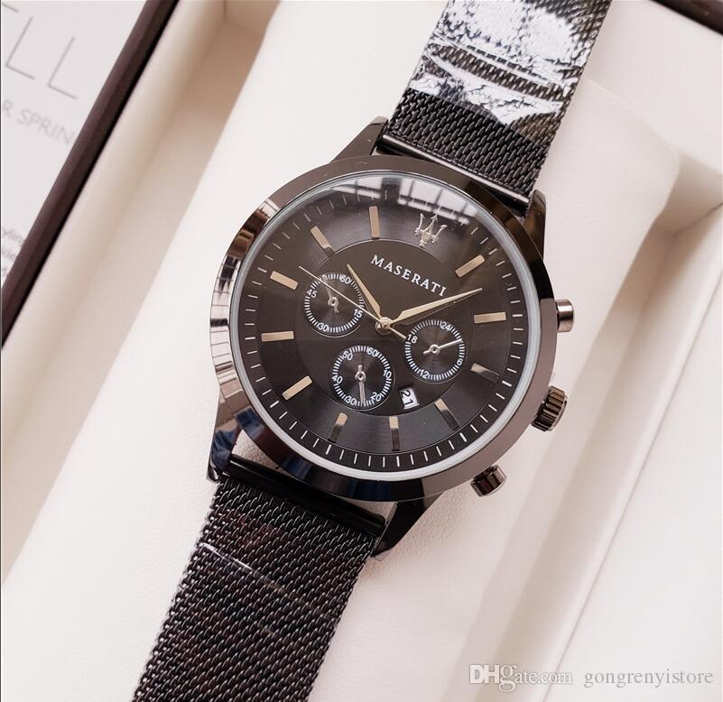 2019 роскошные мужские часы элегантная мода черный белый шоу пояса водонепроницаемые кварцевые часы подарок мужские часы relogios