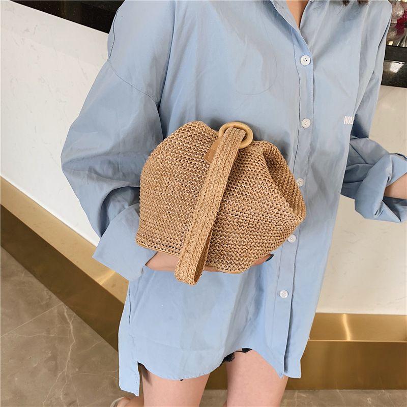 borse Handmade Woven Piccolo Rattan crossbody mini Boemia borsa da spiaggia paglia borse del partito borsa 2020 nuova