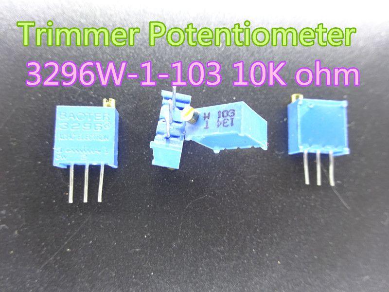 20PCS 5K ohm 502 3296 Precision Trimmer Multiturn Preset Top Potentiometer