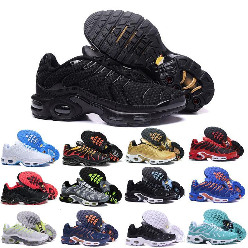저렴한 하이트 품질 스포츠 캐주얼 신발 새로운 TN 남성 블랙 화이트 레드 남성 통기성 러너 운동화 남자 운동화 테니스 신발