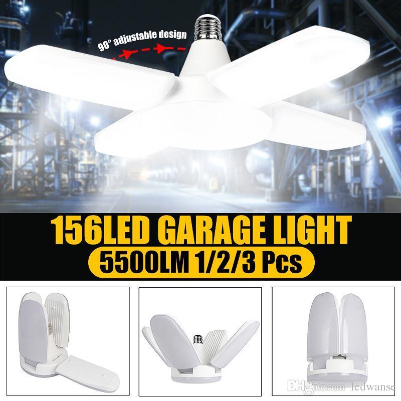 Lampadine a LED super luminose 60W E27 LED Ventola del garage Light 5500LM 85-265V 2835 LED High Bay Industrial Illuminazione per officina