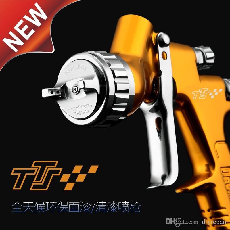 المهنية GTI الموالية لايت الذهبي الطلاء بندقية 1.3MM فوهة بندقية الطلاء المياه القائمة على الهواء بندقية رش