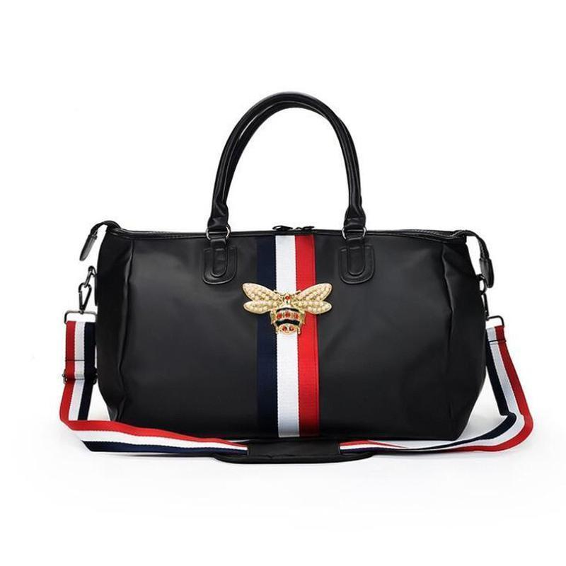 роскошные новые модные брендовые дорожные сумки водонепроницаемый большой емкости ручная кладь путешествия Пчелиная сумка женщины выходные путешествия вещевой мешок Handbagsca24#