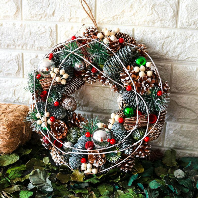 2020 Garland Christmas Wreath Wedding Home Decorations New Year Door Farmhouse Hangings Navidad Natal Decors Wianek Na Drzwi From Hymen 24 39 Dhgate Com