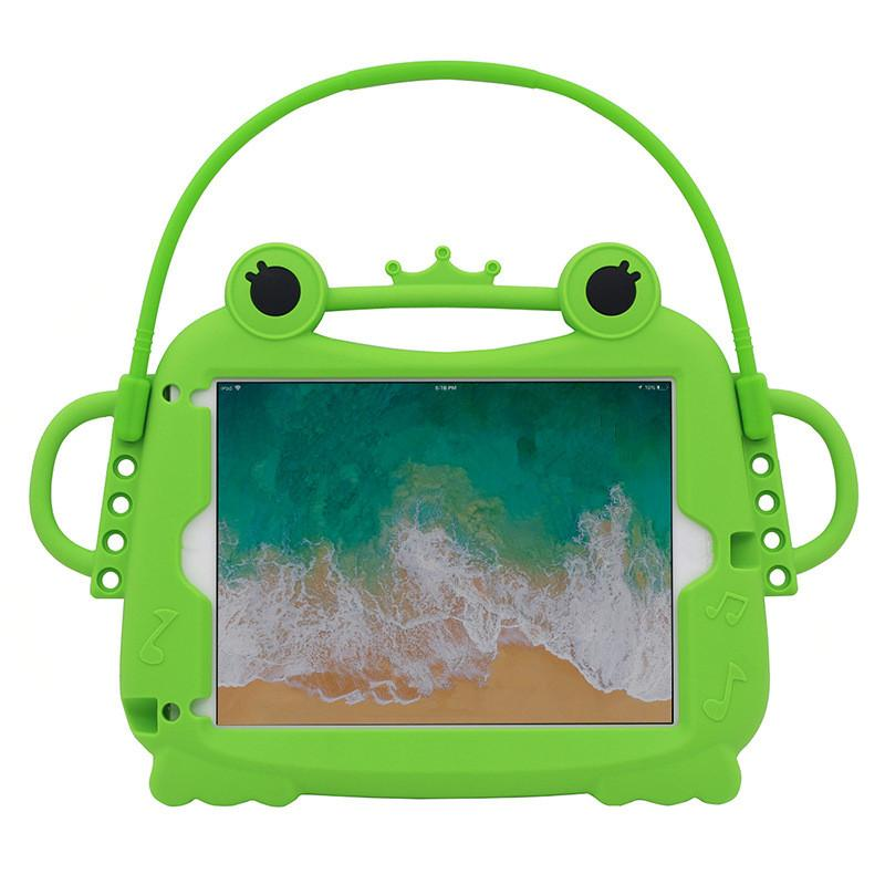 Silicone case cartoon frog anti-fall protection case soft shell suitable for tablet air air2 234 car shell