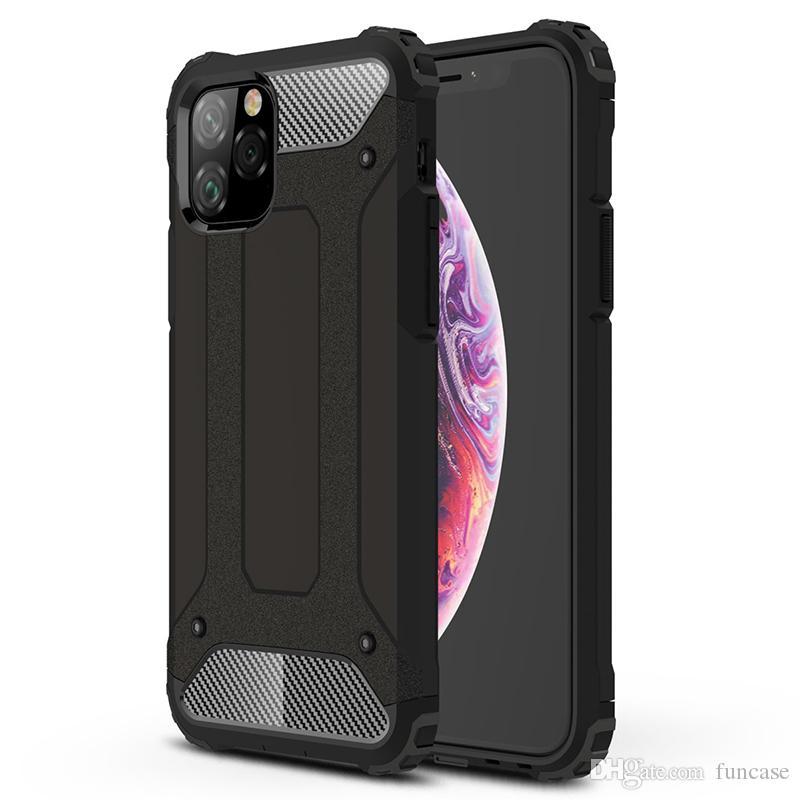Armatura in acciaio Copertura completa Custodia protettiva in TPU ibrido per difensore ibrido antiurto per iPhone 11 Pro Max XS XR X 8 7 6 6S Plus