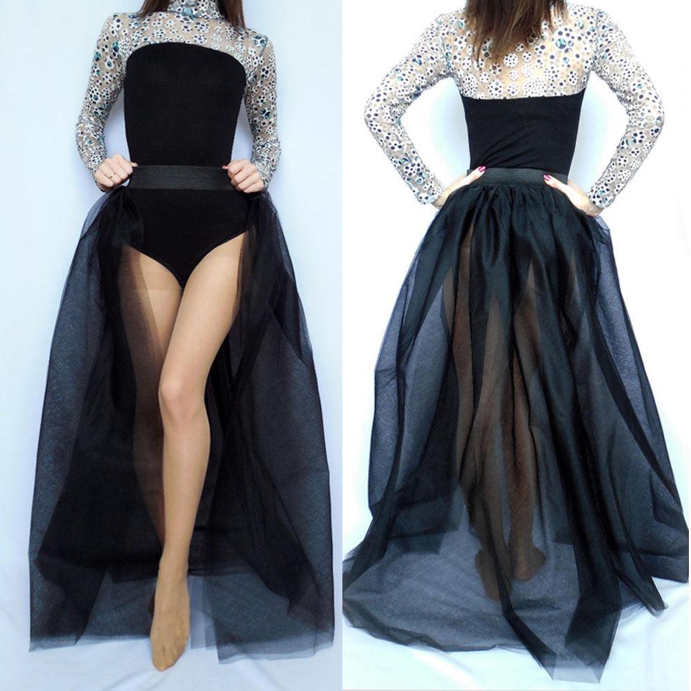 Al por mayor-4 capas largas mujeres tul faldas sólidas boda falda nupcial ocasional vestido de bola de encaje princesa falda