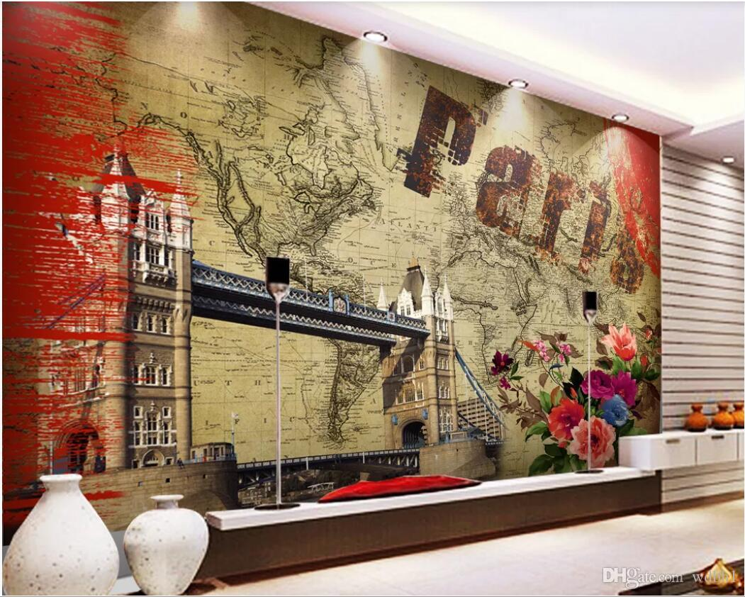 3d room wallpaper custom photo mural European and American oil painting nostalgic style TV background wall wallpaper for walls 3 d