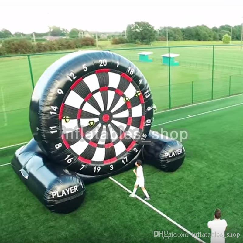 Grosshandel Kostenloser Versand Kostenlose Pumpe 2m 3m 4m Aufblasbares Sportspiel China Oxfordschwarzes Aufblasbare Dartscheibe