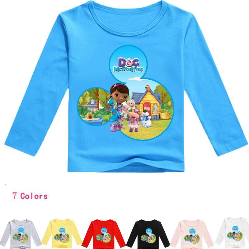 Hemdabnutzung 2019 Kinderspielzeug Kleiner Doktor Bügeln Zeichnen Fall Kinder Herbst Boden Multicolor Jacke T012 T Shirts