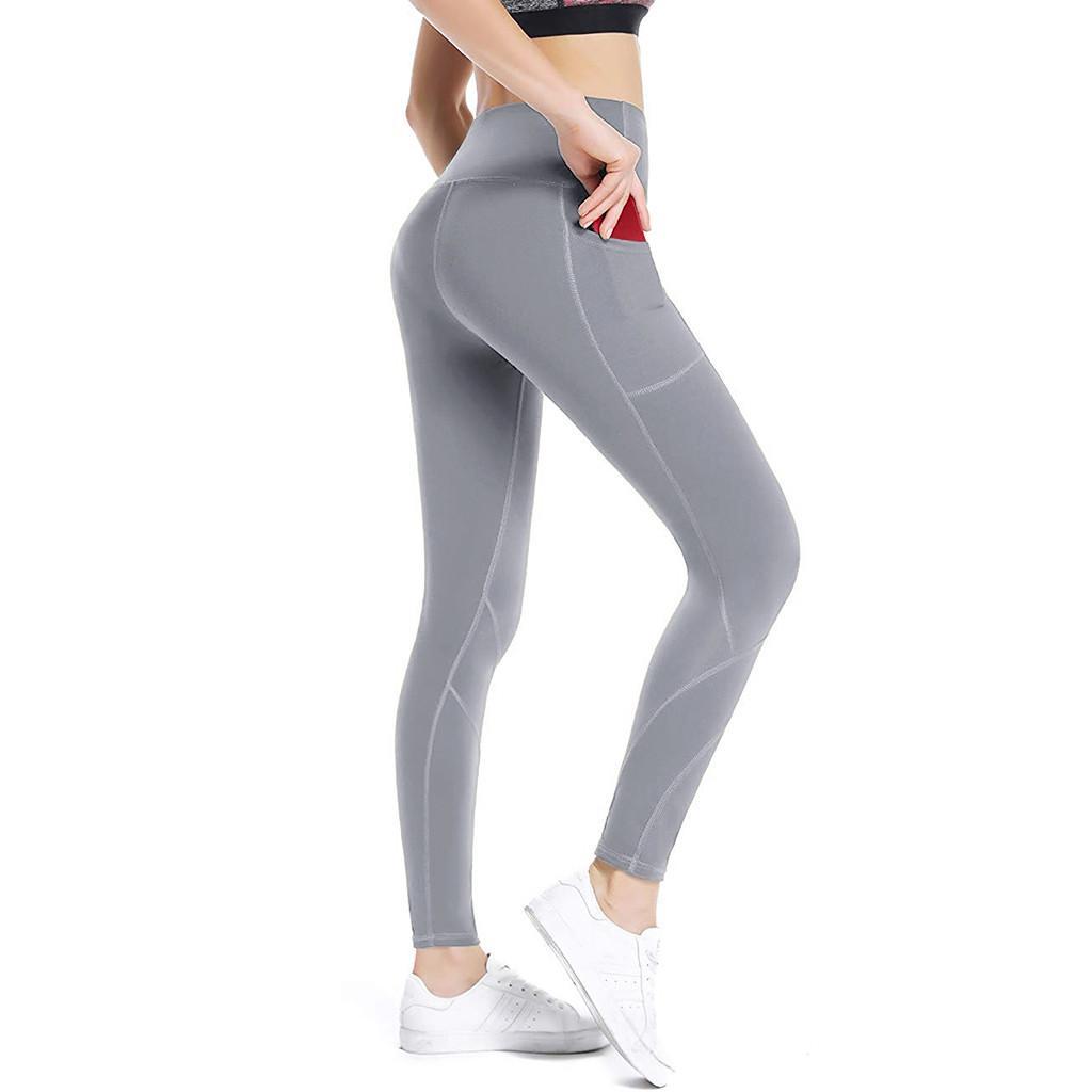 20 # Leggings Sport Frauen Fitness Workout Tasche Gamaschen Sport-laufende Sporthosen Trainingshose mit hoher Taille Hose