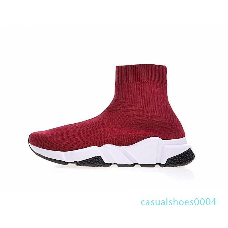 Designer Shoes Speed ​​Trainer sapatos casuais Sapatos Triplo Preto plano branco Moda Meias Botas Mens Mulheres Sneakers C04