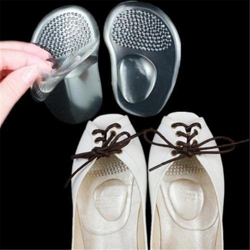 1Pair High Heel-Schuhe Vorder Vorfuß halbe Sohle Pads Einsatzkugel Bequemer Silikon-Einlegesohlen-Kissen Fußpflege Vorfuß