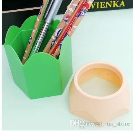 Creative Pen Holder Stationery School Supplies Pencil Pot Makeup Brush Vase Gift