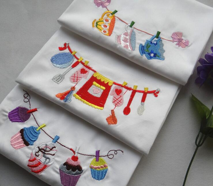 45x70cm Simple Embroidered Table Napkin Cotton Napkin Kitchen Cleaning Cloth Baking Cloth Photo Background Decoration
