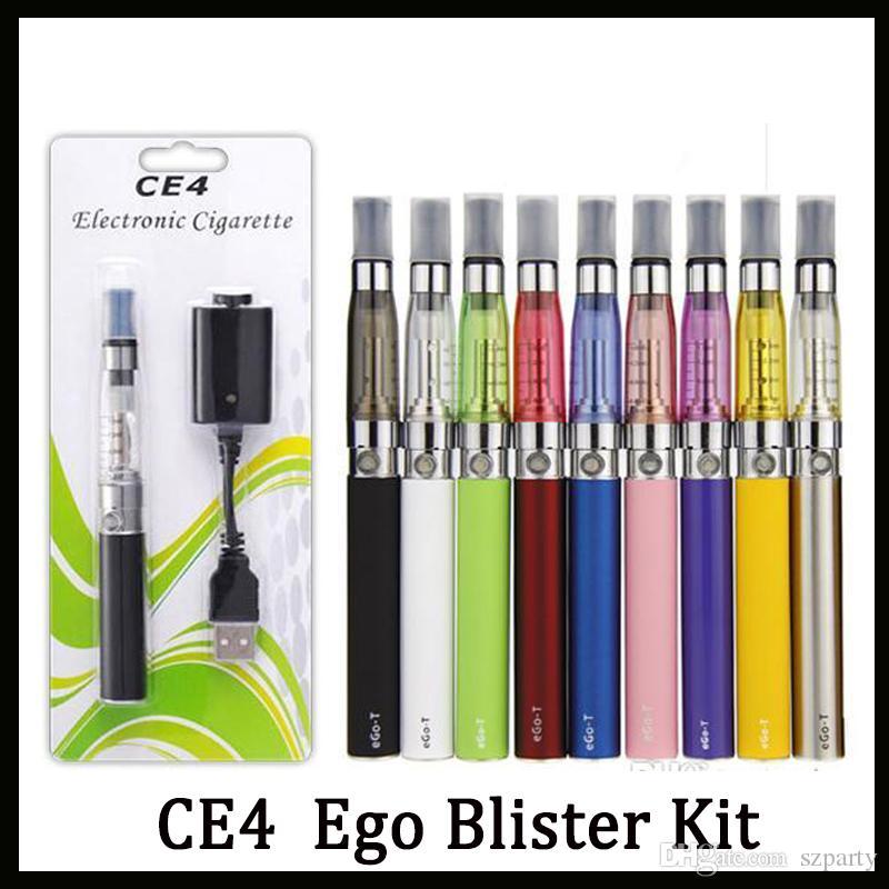 에고 스타터 키트 CE4 분무기 전자 담배 전자 담배 키트 650mah 900mah 1100mah EGO - T 배터리 블리스 터 케이스 Clearomizer E - Cig 무료 배송
