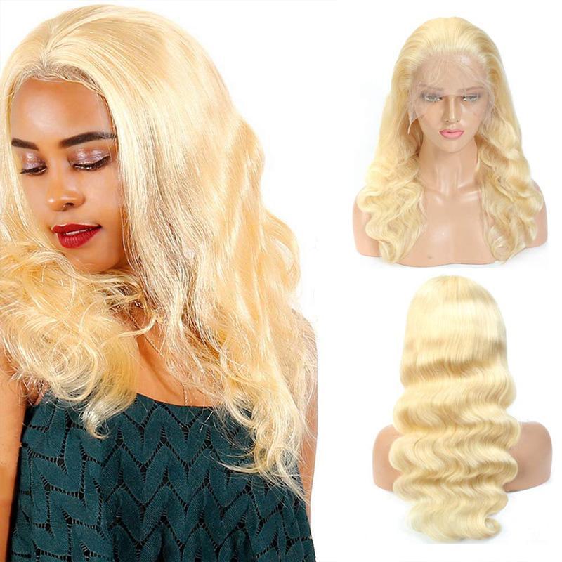 Hot Beliebt 613 Körper-Welle Remy Haar-volle Spitze-Perücke 100% Rohboden brasilianische Menschenhaar-Spitze-Front-Perücken Pre Zupforchester Hairline für schwarze Frauen