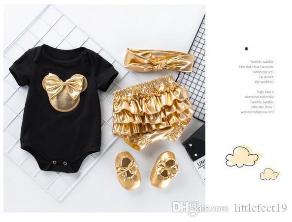 Новый ребенок дизайнер одежды девушка Ха Yi золотой PP брюки костюм ребенка комбинезон детская одежда вчетвером многосоставной