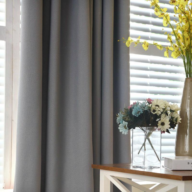 Eco Friendly color sólido de lino de imitación del apagón cortinas para la sala de estar moderna Cortinas para el dormitorio cortina de la ventana de la cocina Cortinas Persianas