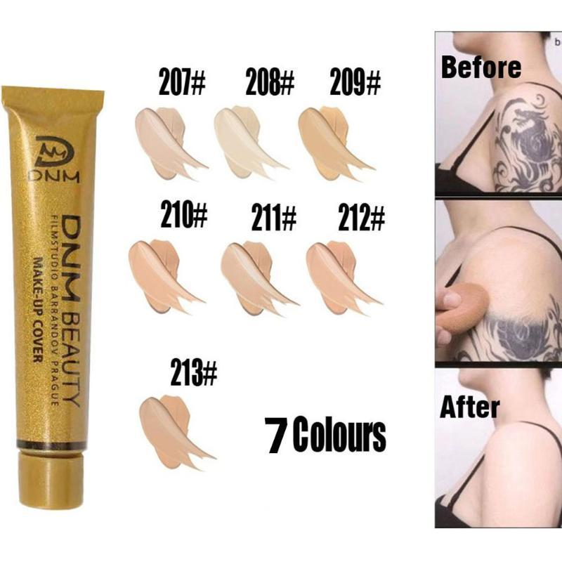 Base Makeup Foundation Makeup Concealer Cream 7styles Tattoo concealer Acne Skin Cover Face Base Foundation Cosmetics