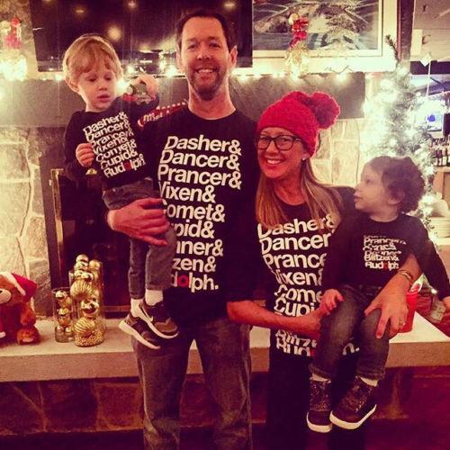 Noel Ailesi Eşleştirme En Tişört Giyim Sonbahar Kadınlar Bebek Kız Erkek Çocuk Pamuk Kapüşonlular Tişörtlü Bluz Noel Giyim yazdır
