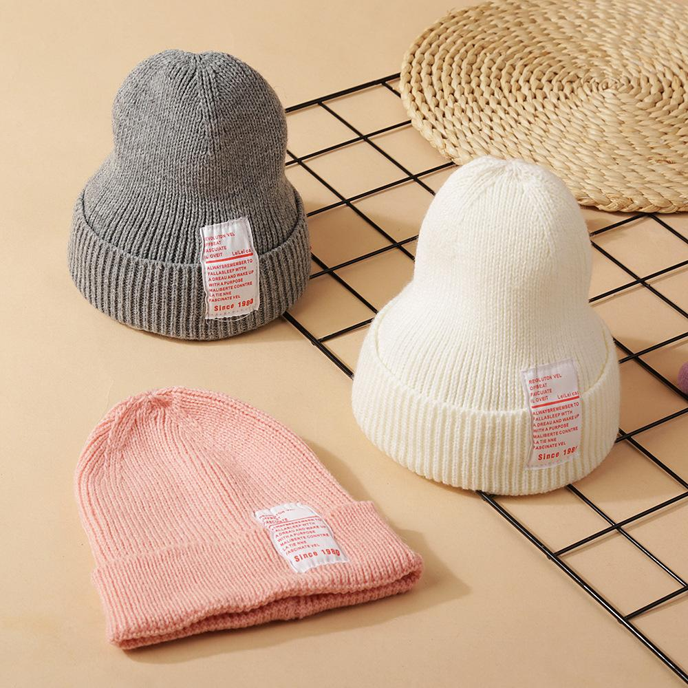 Kids Baby Cartoon Print Hat Soft Cute Cap Toddler Infant Autumn Winter Warm Beanie Bonnet