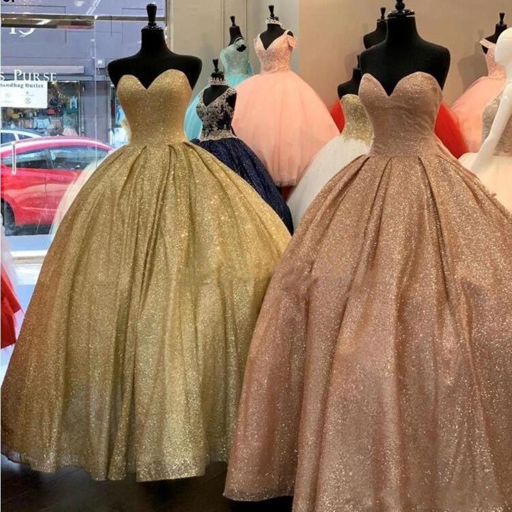 Incroyable Sexy Rose Rose Quinceanera Robes Boule Robe Sweet Sweet 16 Robes de bal Sparging Flash Robes Debutante Debutante Plus Vetille Vestidos