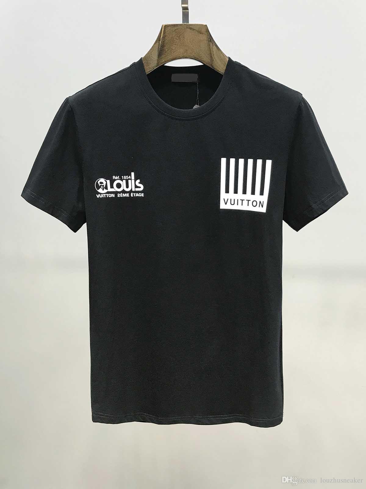 T-shirt di Moda con stampa geometrica di Lettere e t-shirt estiva hip hop high street manica corta uomo e donna con LO STESSO top T-shirt
