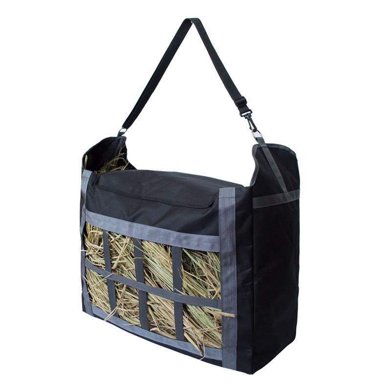 Nylon Hay Tote Bag con cinturino regolabile grande capacità Hay Pouch Bag Heavy Duty e durevole facile da riempire e trasportare