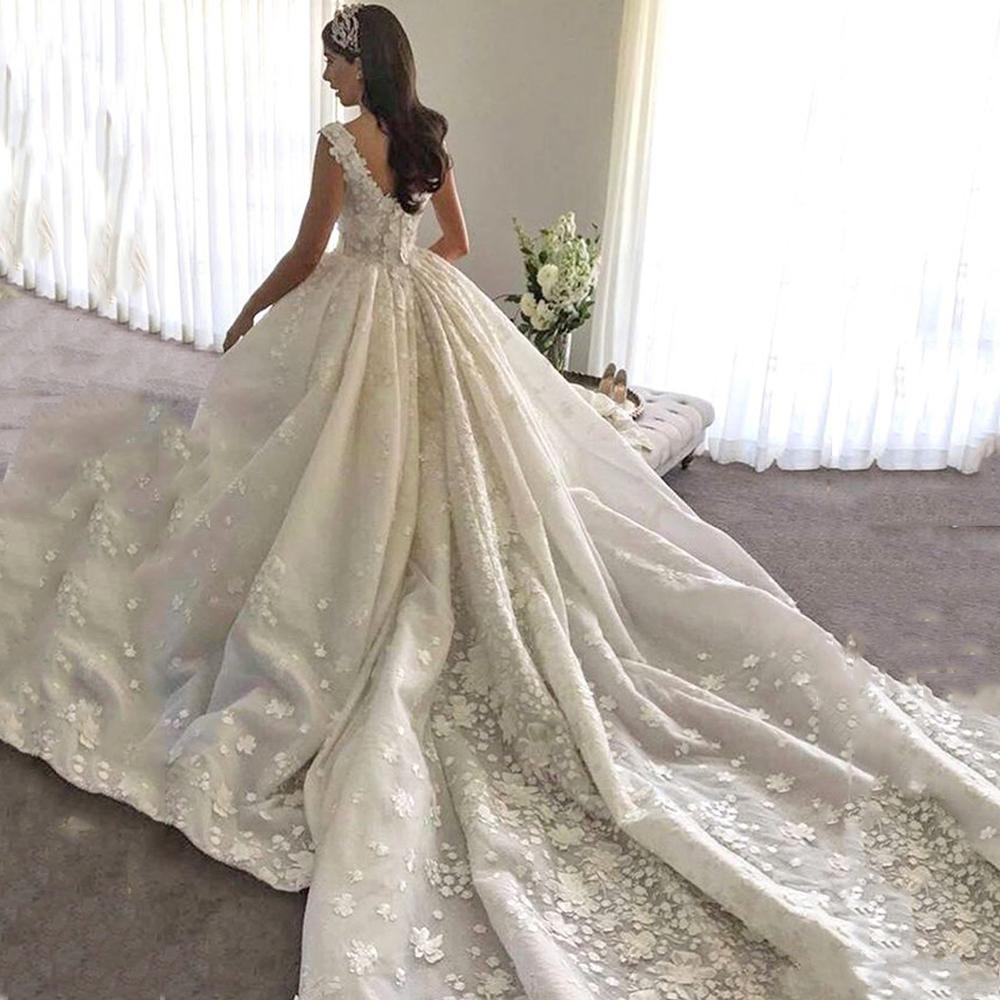 Großhandel 17 Luxus Arabisch Weiß / Elfenbein Prinzessin Ballkleid  Brautkleider Lange Vintage Arabien Braut Formale Kleider Fabelhafte  Hochzeit