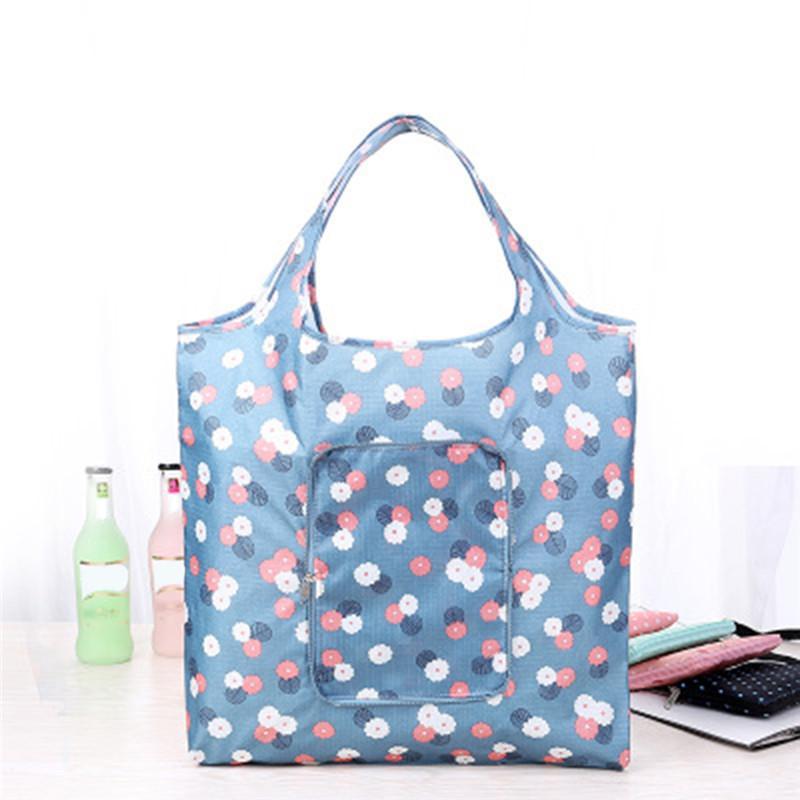 Katlanabilir Alışveriş Çantası Çevre Dostu Bez Çanta Yeniden kullanılabilir Tek Omuz Taşınabilir Alışveriş Sundries Depolama