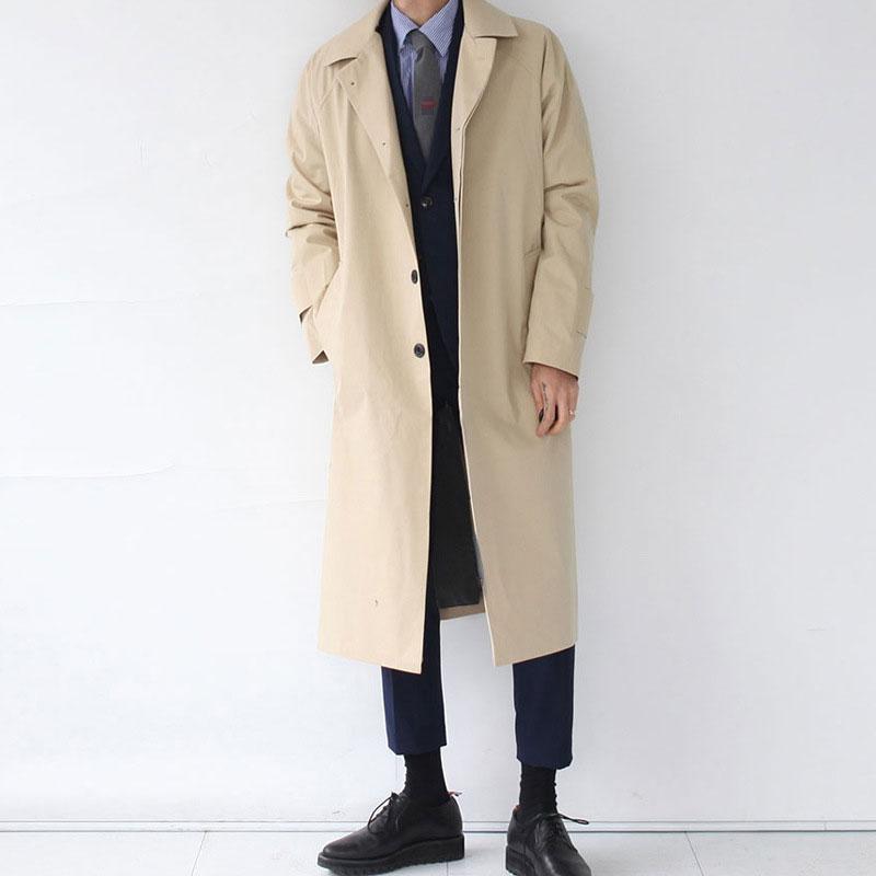 Men's Trench Coats Japan Style Mens Coat 2021 Fashion Designer Long Windbreaker Autumn Winter Single Breasted Windproof Overcoat Plus Size
