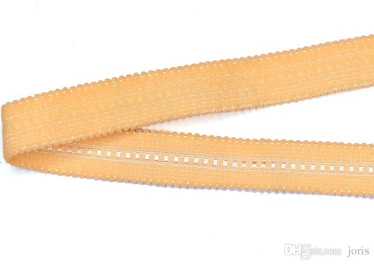 DIY Akrilik Naylon dekorasyon jakarlı örme elastik dantel trim kumaş turuncu dokuma sütyen yüksek kalite 16mm geniş fabrika askıları SPS960-16