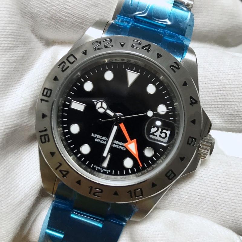 2020 Mens Relógios montre de luxo Relógio de pulso Pilot Midnight Blue Assista Dial Mens Watch Relógios homens automática