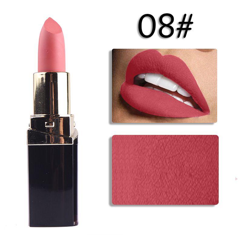 Hot lipstick DHL Freeshippng MISS ROSE triangular 42-color natural solid lipstick lip gloss waterproof moisture 600pcs