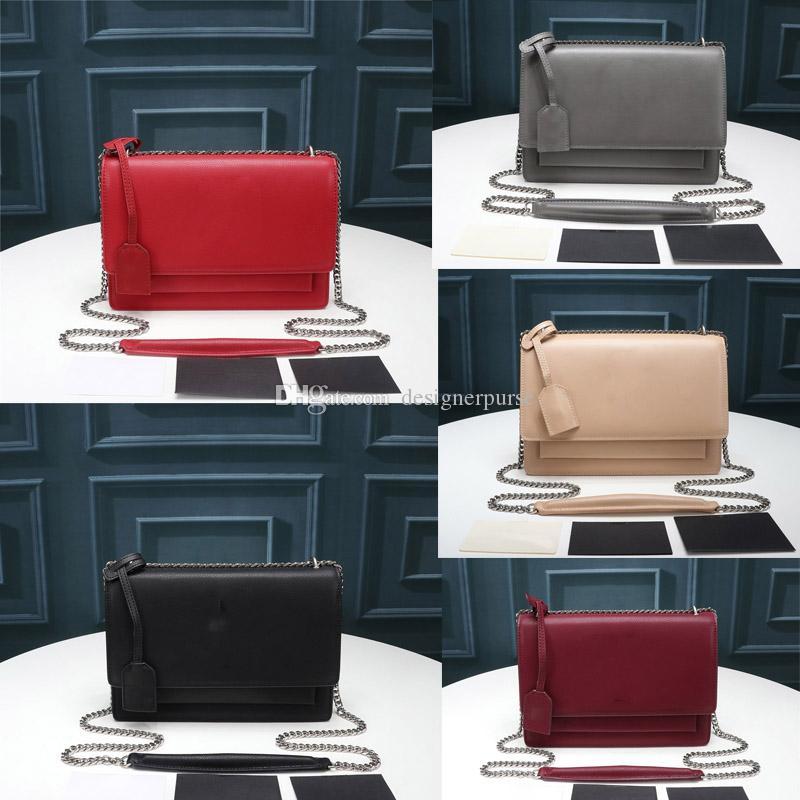 높은 품질 플랩 백 럭셔리 디자이너 브랜드 여성 지갑 SUNSET 체인 지갑 여성 체인 숄더 가방 패션 디자이너 크로스 바디 백