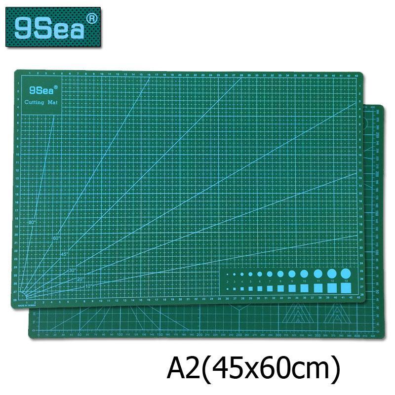 45cm * 60 cm A2 / A3 Pvc Rectangle Quadrillage autorétablissement Tapis de coupe Outil papier tissu cuir Artisanat outils de bricolage