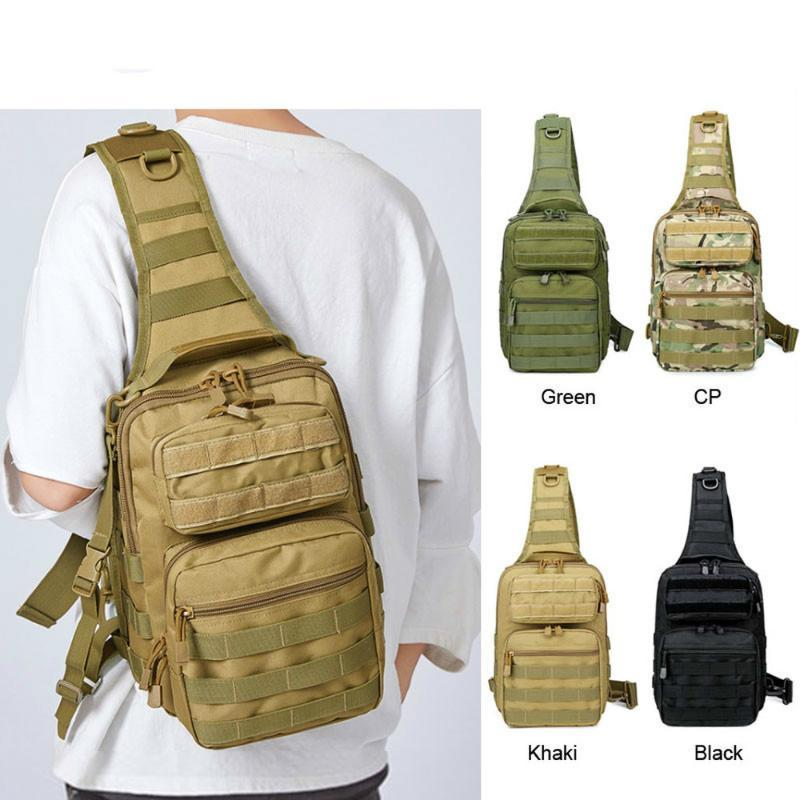 Tactical Chest Backpack Sling Bag Hunting Fishing Bags Camping Hiking Army Hiking Backpacks Molle Shoulder Pack