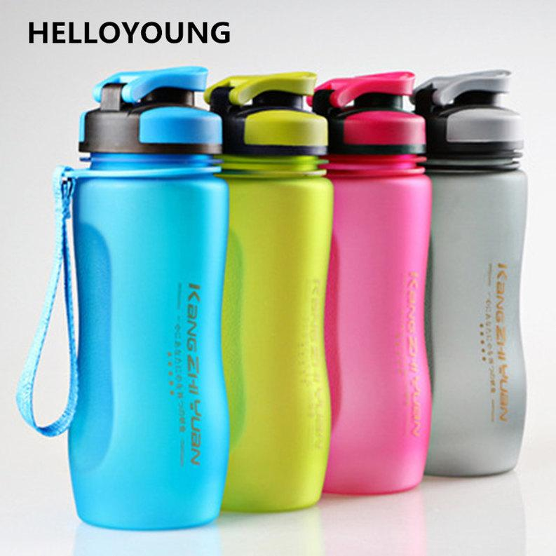 HELLOYOUNG 1000 ml 600 ml spor su şişeleri Içme suyu şişesi benim su çay demlik taşınabilir su ısıtıcısı bisiklet bisiklet Sıcak Satış