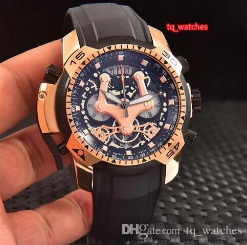 Мужские VK кварцевые часы из натурального каучука водонепроницаемые спортивные часы личность циферблат часы модный бутик часы Бесплатная доставка