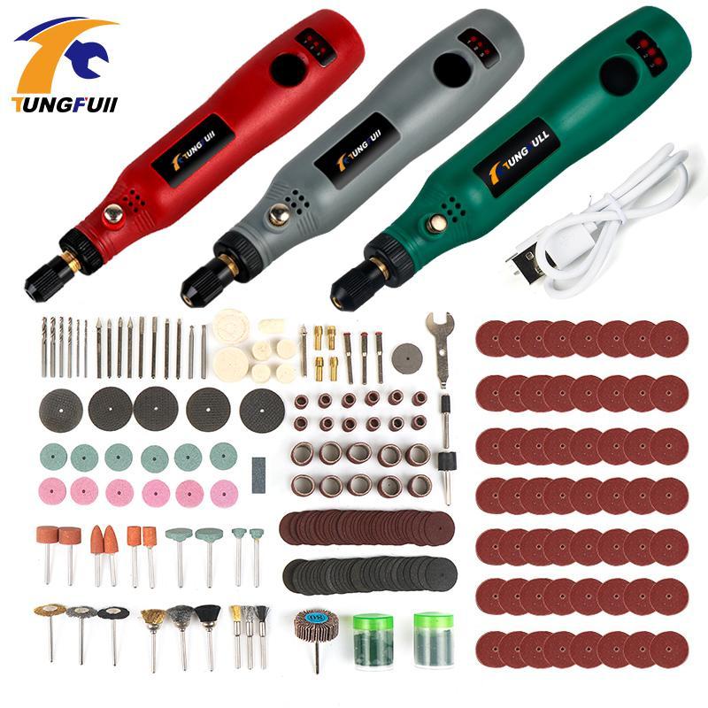 USB sans fil perceuse électrique perceuse électrique Outils meuler Set Mini sans fil Gravure stylo pour les bijoux en bois outils Dremel