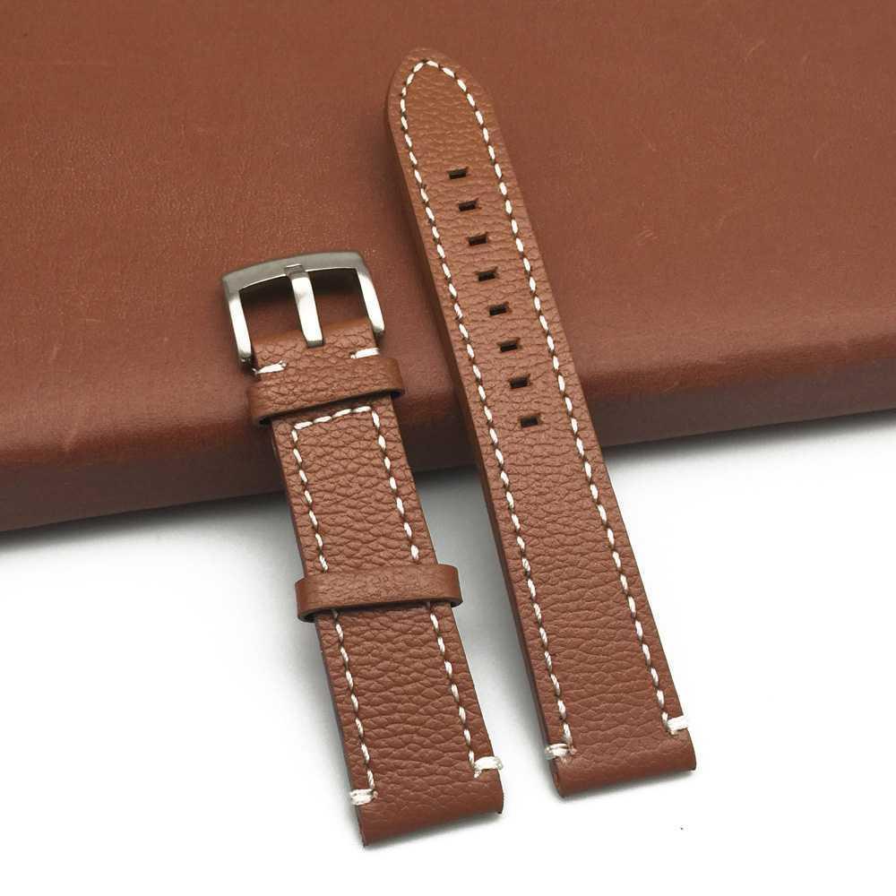Nuevo reloj de cuero correas de reloj correa de cuero del reloj de la banda de cierre plegable Muñequera Accesorios pulseras