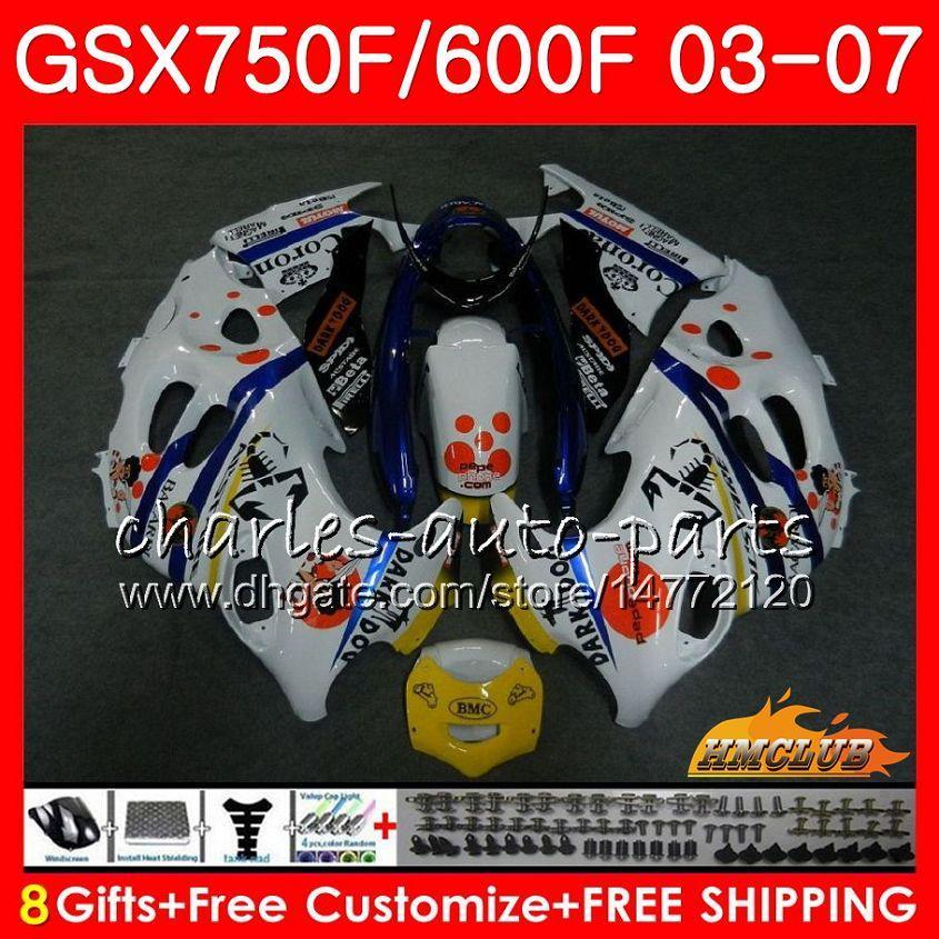 Corpo para Suzuki Katana GSXF750 GSXF600 PEPEPHONE Hot 2003 2004 2005 2006 2007 3HC.25GSX600F GSX750F GSXF 600 750 03 04 05 06 07 Kit de justo