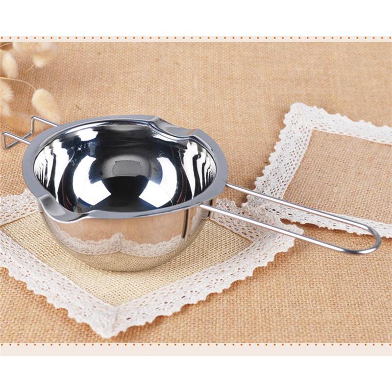 Edelstahl Stiel Wachs Melting Pot DIY Duftkerze Seifen-Schokoladen-Butter Melting Pot handgemachter Seifen-Schokoladen-Werkzeuge
