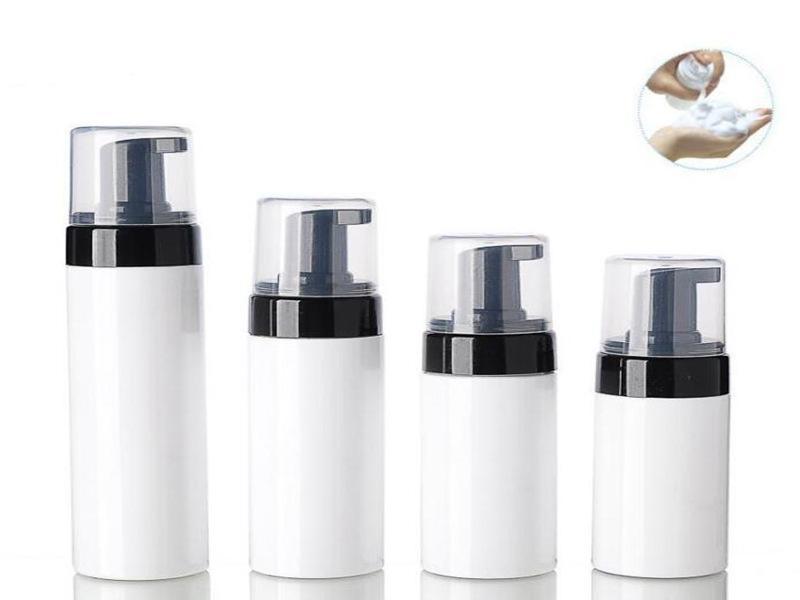 100ml 150ml 200 ml de bouteille de mousse de mousse de 250 ml en mousse rechargeable de récipient à bulles de pompe à bulle de pompe de savon de distributeur liquide pompe de pompe avec capuchon