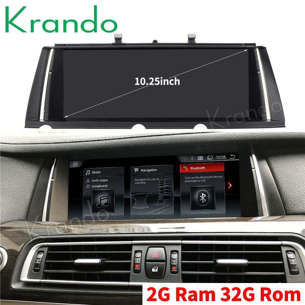 Krando Android 9.0 10.25'' car navigation system for BMW 7 series F01 F02 2009-2015 car audio multimedia radio player GPS BT car dvd