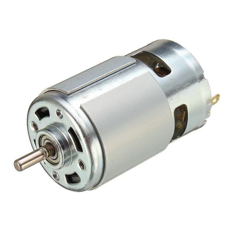 Moteur à courant continu 775 CC 12V-36V 3500 - 9 000 tr / min. Roulement à billes Grand couple, puissance élevée, bruit faible