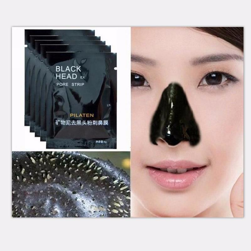 Высокое качество 1000 шт. PILATEN минералы для лица Конк нос Черноголовых Remover Маска поры моющее средство нос черная голова EX поры газа