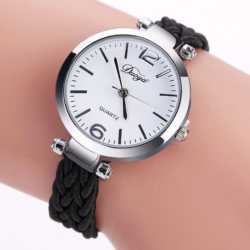 Reloj de pulsera de moda de alta calidad de las señoras de las mujeres del reloj de la banda de nylon fino Winding análogo del movimiento del cuarzo reloj de pulsera Zegarek damski