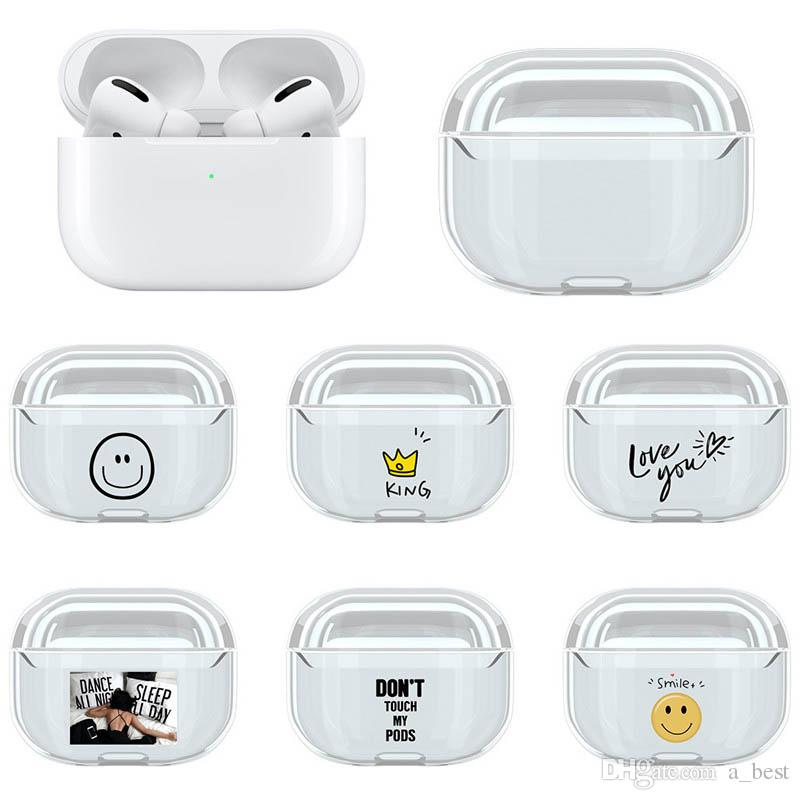 2020 For Apple Airpods Pro Case Hard Pc Clear Cartoon Pattern Transparent Shockproof Earphone Protective Cover For Airpods 3 Crystal Charging Box From Cyberstore2 0 91 Dhgate Com